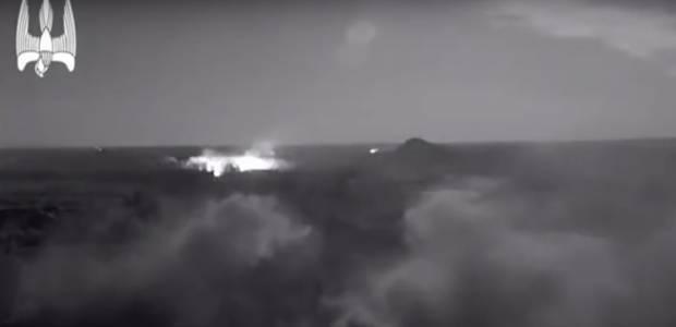 Бои под Мар'їнкою: В сети опубликовали видеозапись впечатляющий