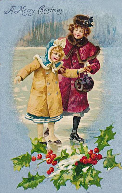 Западная открытка.