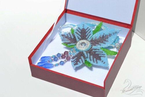 Альбом пользователя Юленька_Лебедь: Голубой цветок со сваровски8.JPG