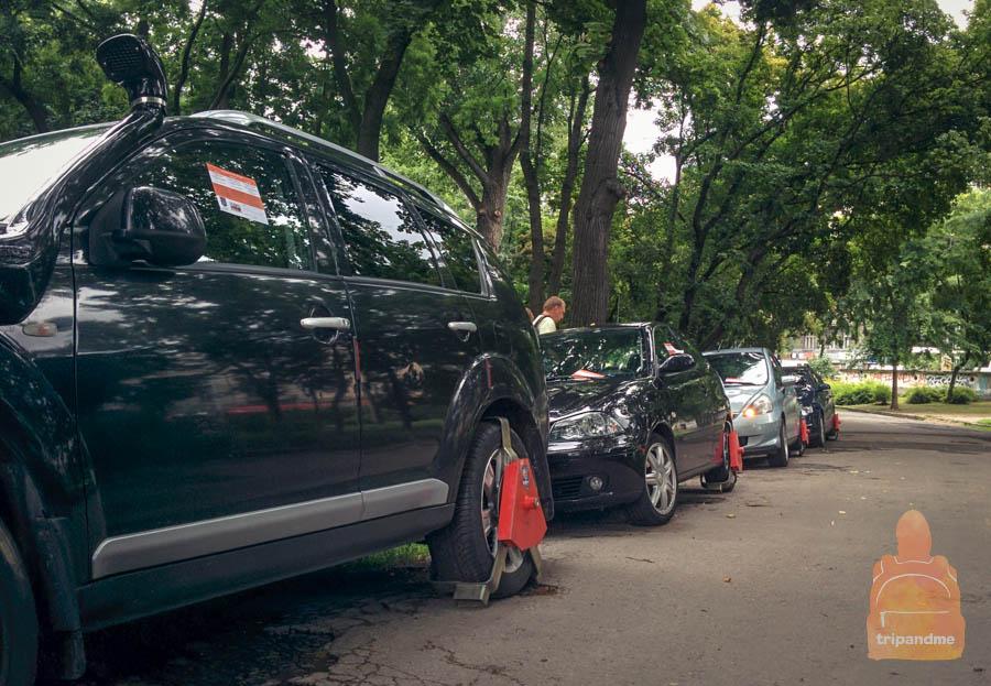 Неправильная парковка в Будапеште