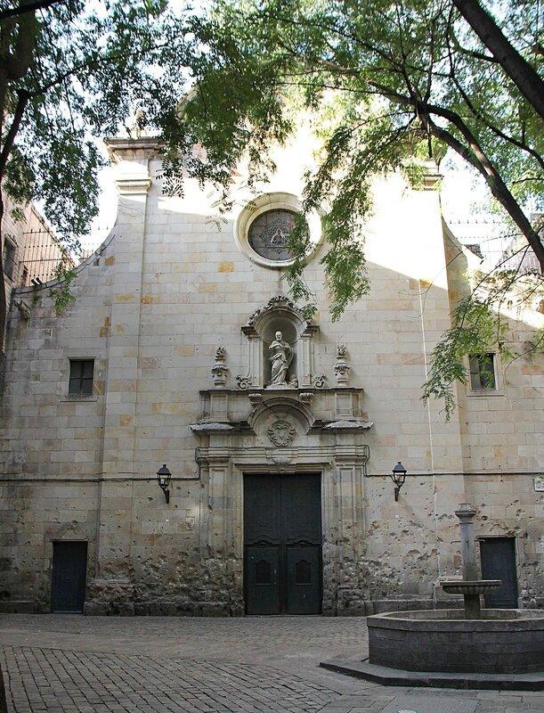 Barcelona. The square of St. Philip Neri (Plaça de Sant Felip Neri)