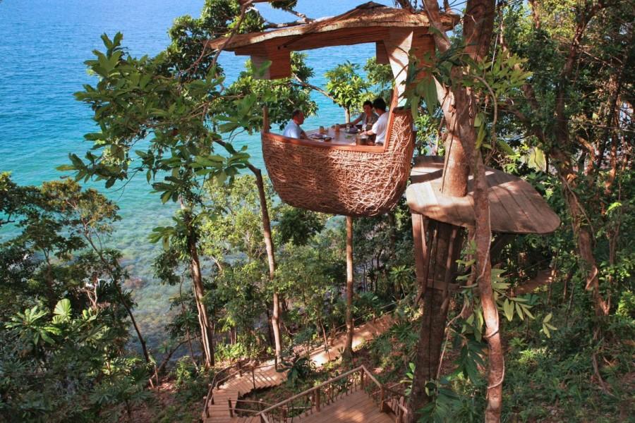11. Treepod Dining, Таиланд Этот романтичный ресторан, находящийся в Бангкоке, представляет собой не
