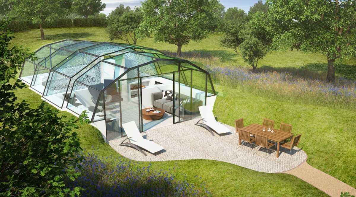 1. Вы можете установить этот инновационный стеклянный дом в любом месте и наполнить свою жизнь огром