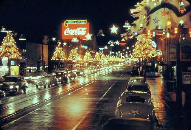 Вид на западную часть Голливудского бульвара из Las Palmas, 1948 год.