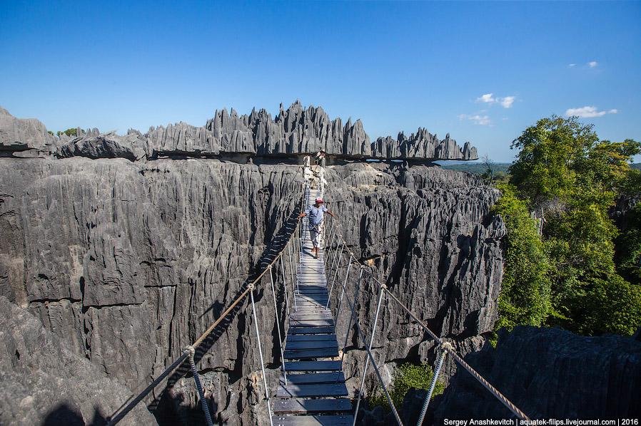 14. Селфи на скорую руку с моста — и дальше, по иссушающей жаре гулять по острым скалам.