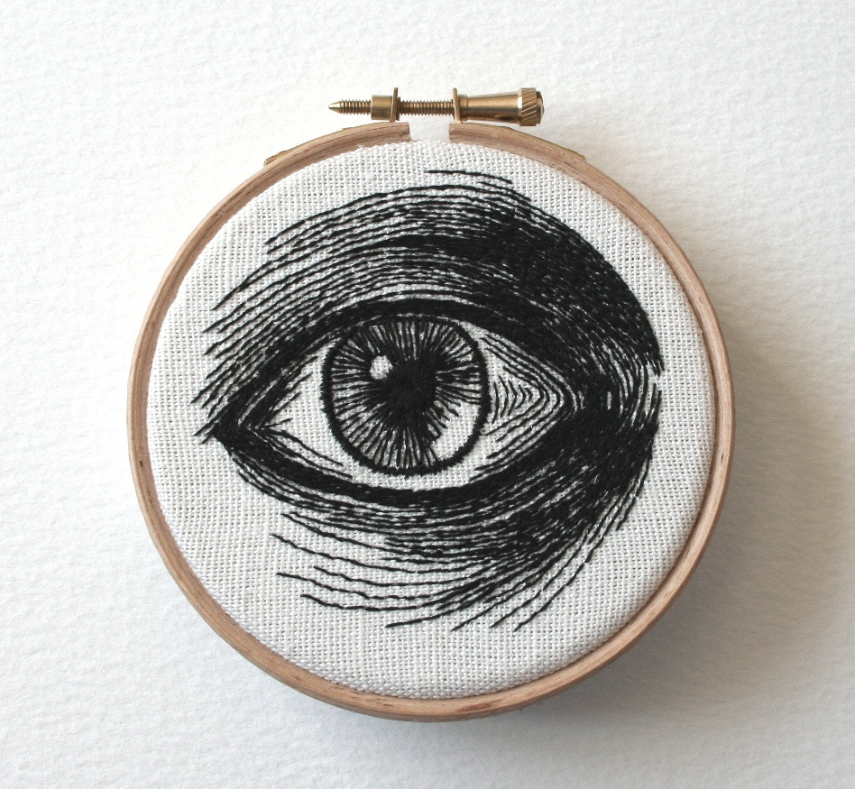 Hand Embroidered Eye Illustrations by Sam P. Gibson