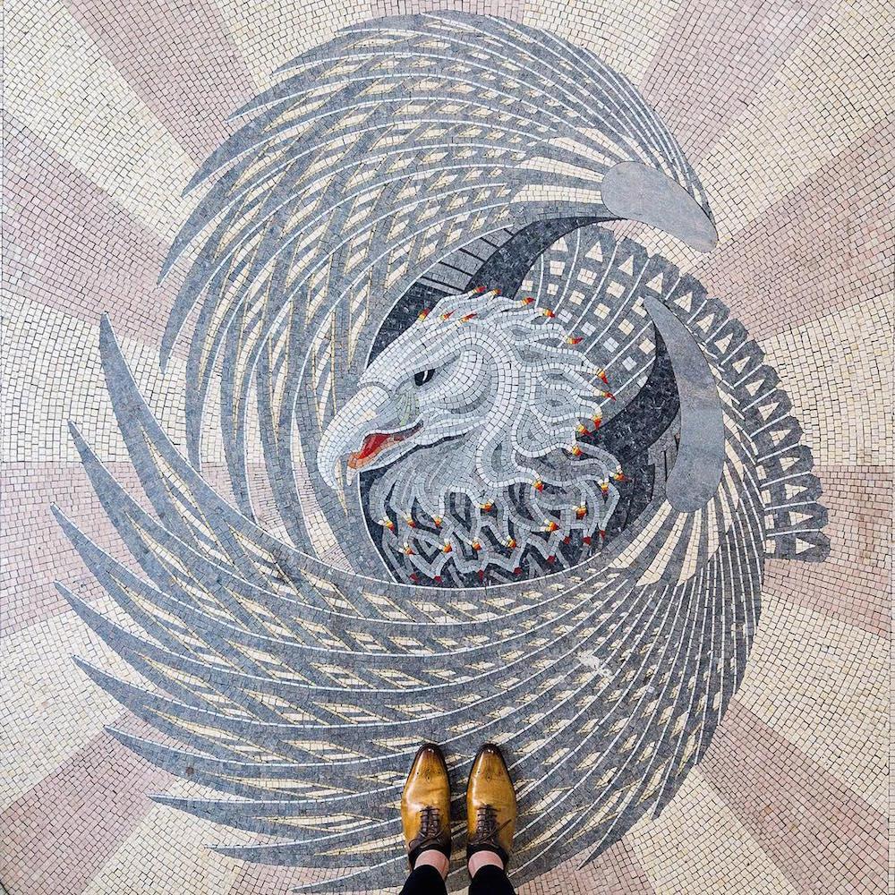 All images via @parisianfloors German photographer Sebastian Erras ( previously ) made his mosaic-fo