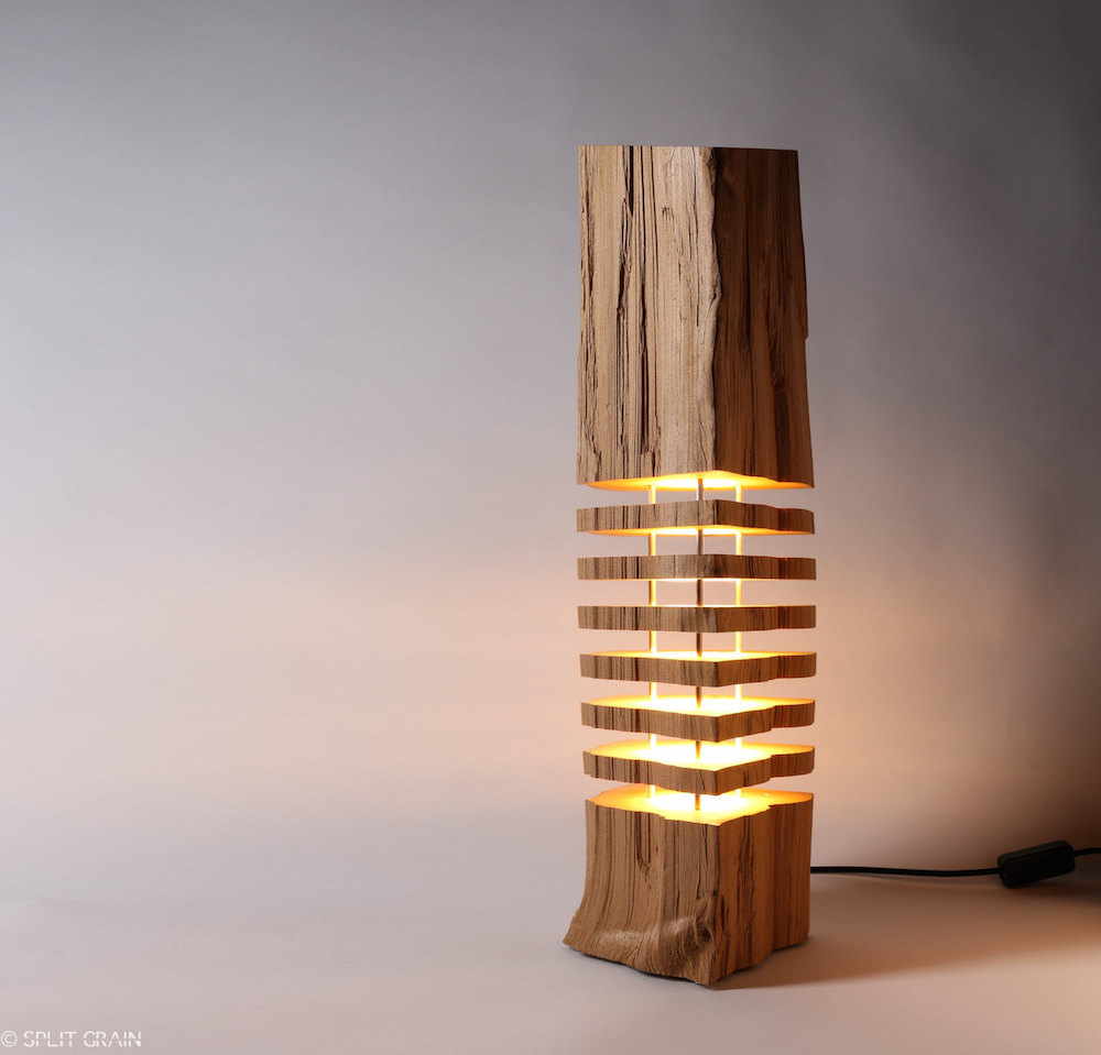 Minimalist Sliced Firewood Lamps by Split Grain (8 pics)