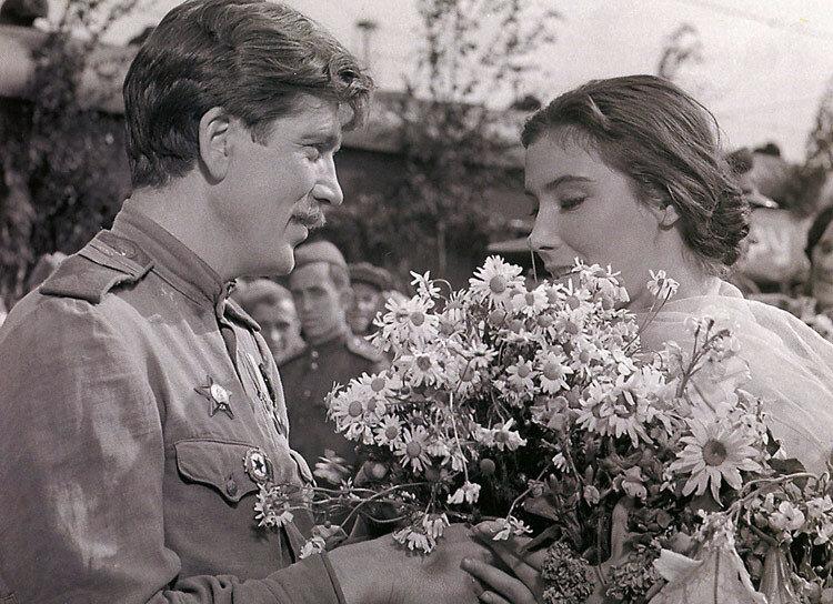 """""""Летят журавли"""", 1957 год. Валентин Зубков и Татьяна Самойлова"""