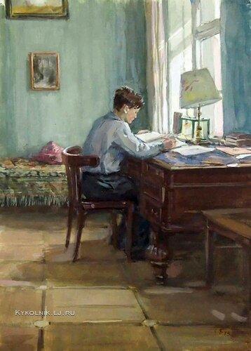 Боим (Бойм) Соломон Самсонович (Россия, 1899-1978) «К экзаменам» 1953.jpg