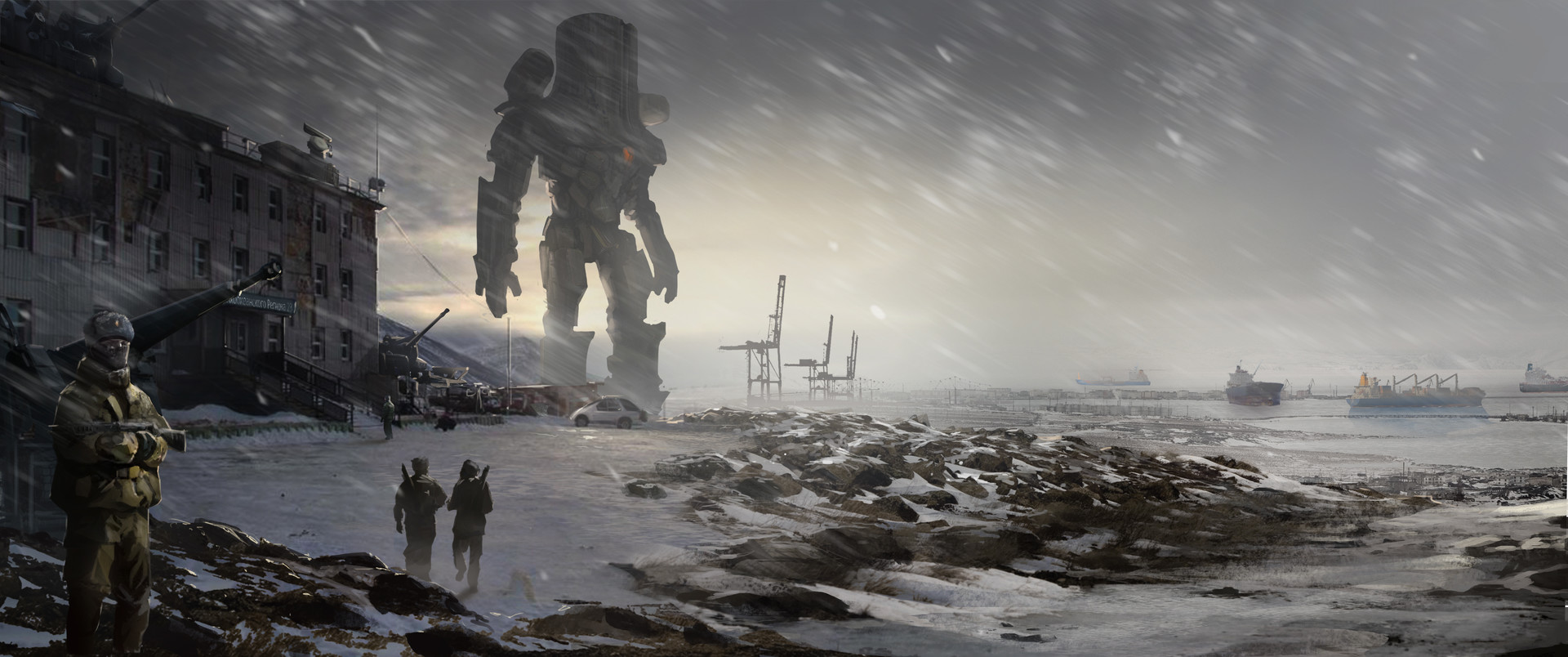 Pacific Rim Concept Art by Doug Williams