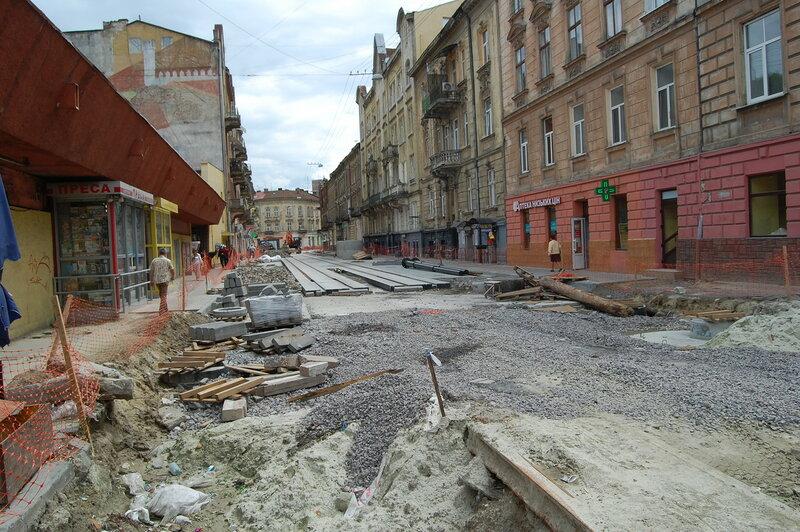 Ул. Ивана Франко - ремонт