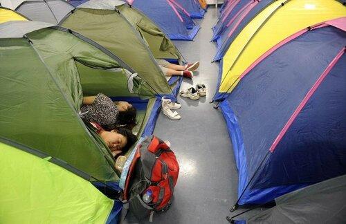 В китайских ВУЗах установили палатки любви