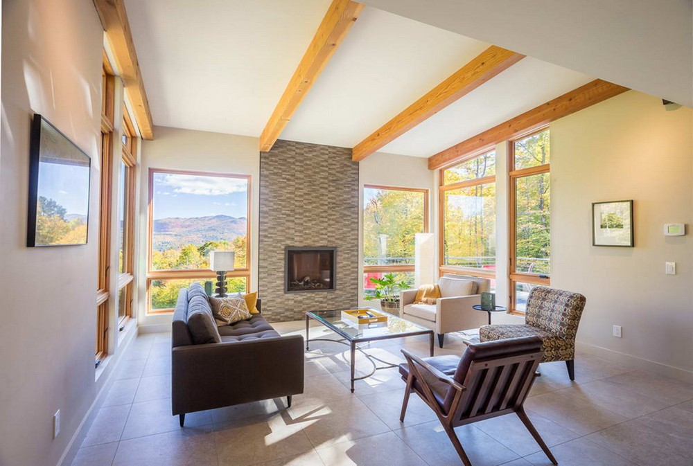 Современный особняк в зеленых горах Вермонта
