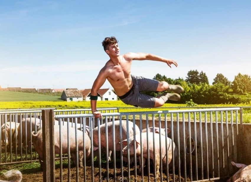 Горячий календарь с австрийскими фермерами и фермершами