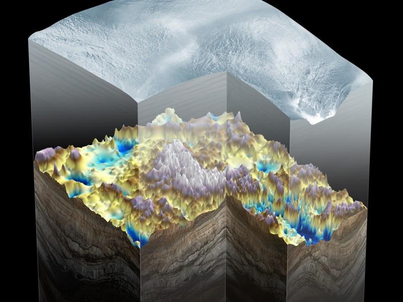В Антарктиде есть горы