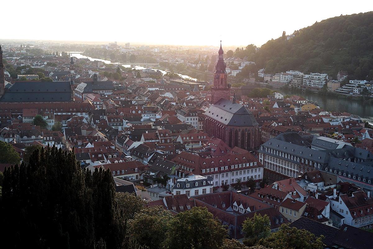 Хайдельберг, вид с обзорной площадки замка