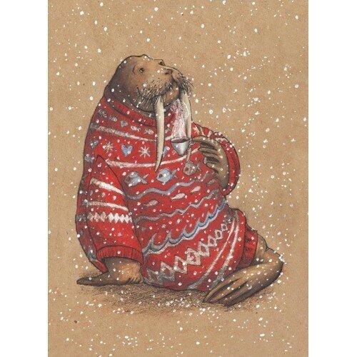 Открытки с моржами, отправлять открытки ватсапе