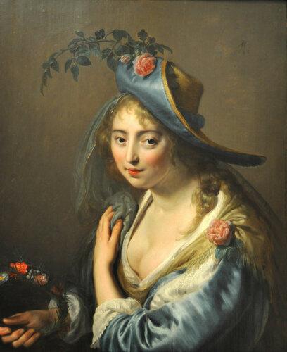 Паулюс Морельсе (Paulus Moreelse), Портрет молодой женщины в образе Флоры
