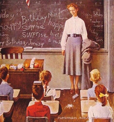 Норман Роквелл День рождения учительницы