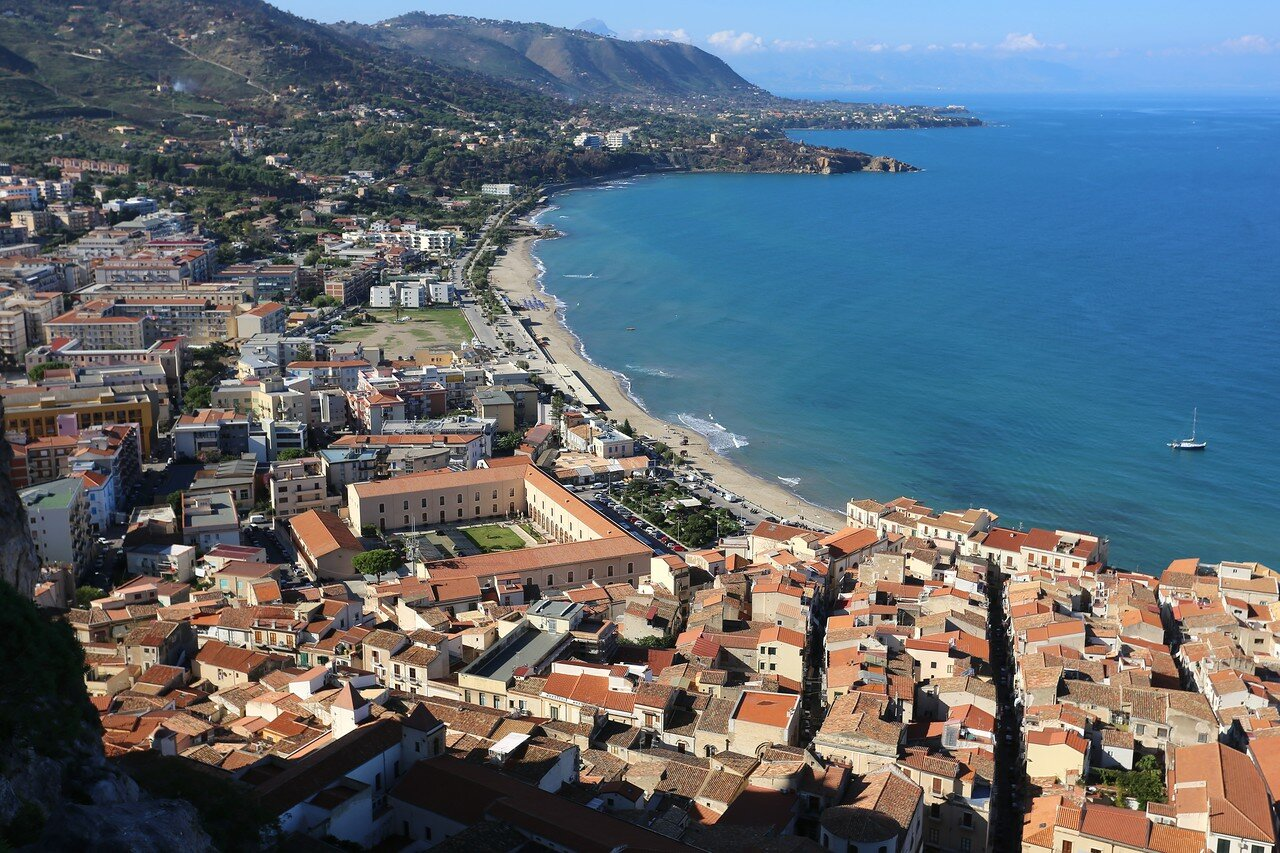 The rock of Cefalu. View from the Belvedere