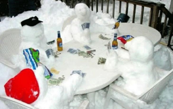 Снежный покер.