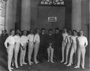 Делегация спортсменов Рижского гимнастического общества на юбилейном празднестве общества Пальма