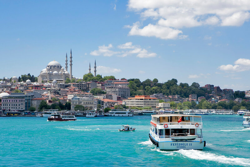 A view of the Golden Horn from Galata Bridge, Istanbul, Turkey