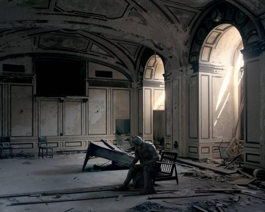 Batman in Abandoned Places (6 pics)