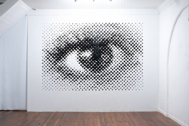 Eye Sculpture with 1252 Balls Playing on Anamorphosis (8 pics)