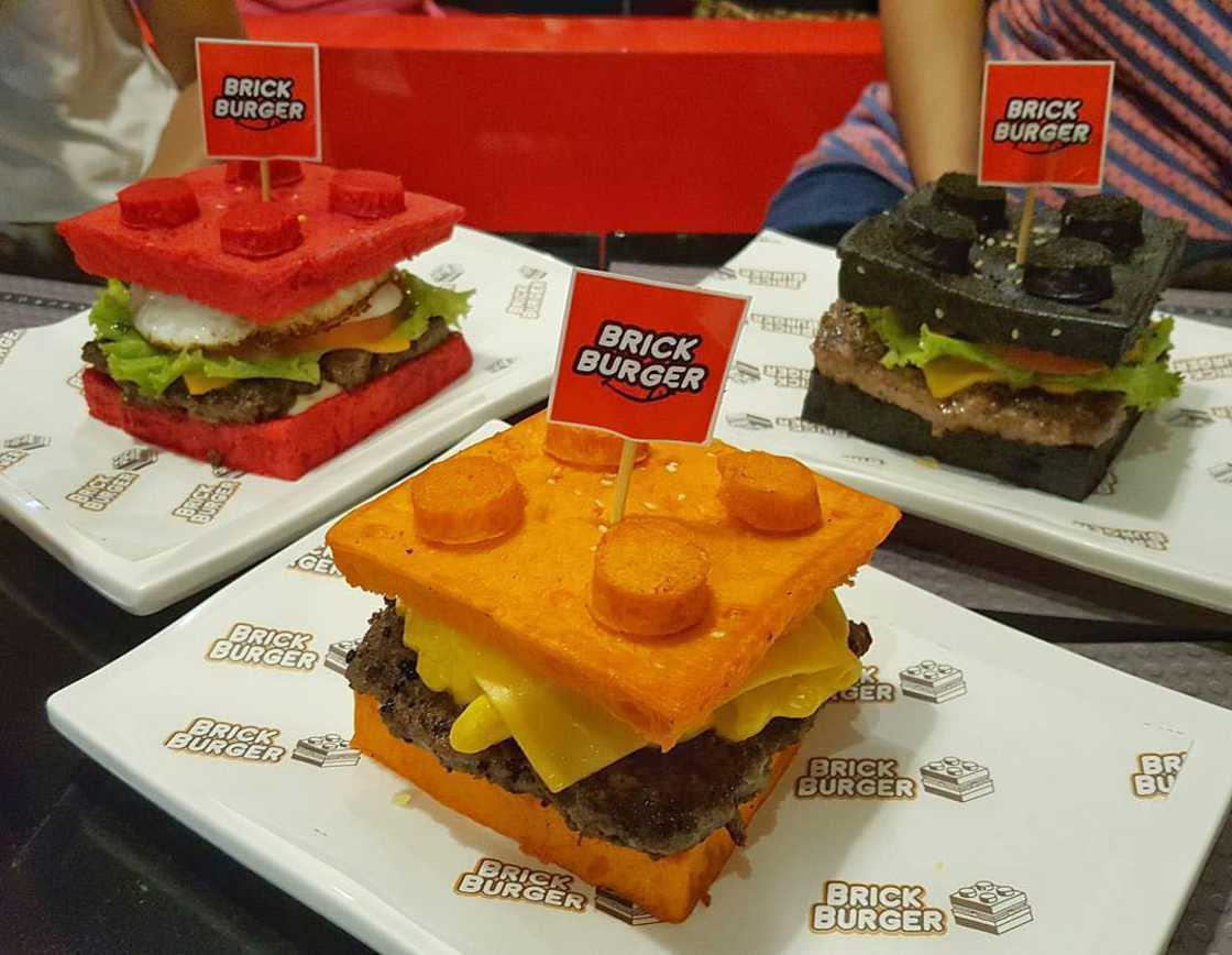Brick Burger - These burgers are inspired by LEGO