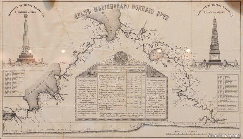 План Мариинского водного пути, Вытегорский краеведческий музей, Вытегра