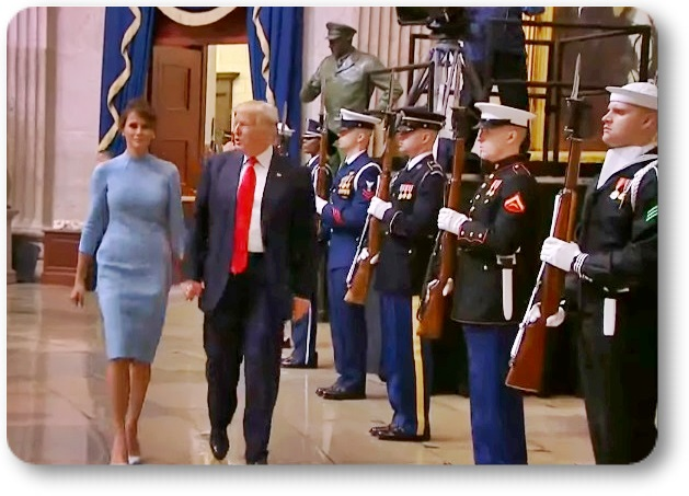 Фотохроника первого  дня 45 Президента...