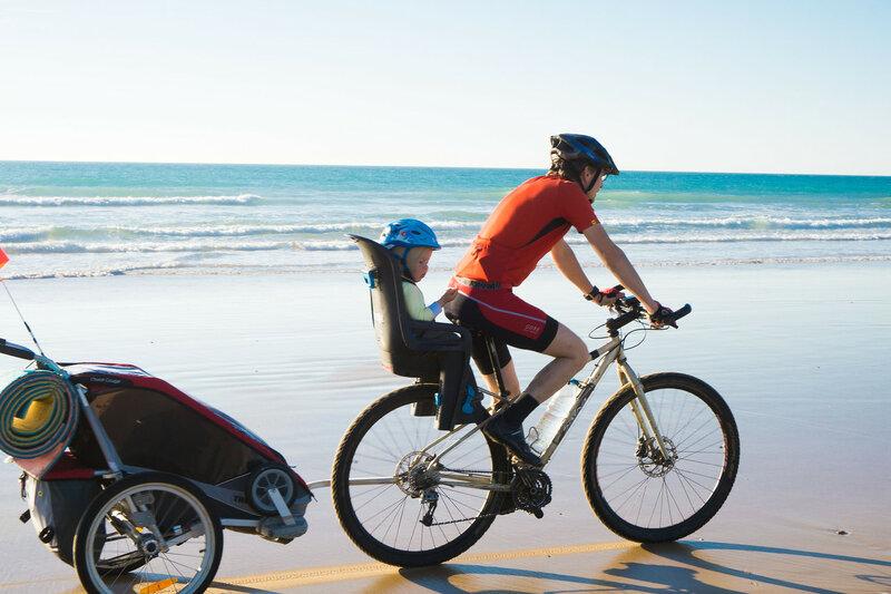велопоход по испании с велоприцепом Thule chariot cougar и велокреслом