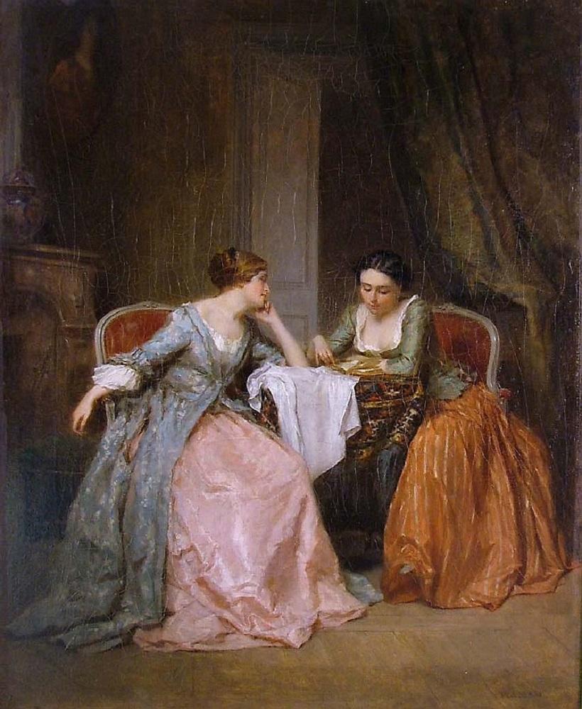 ANTOINE EMILE PLASSAN (1817-1903) IDLE HOURS