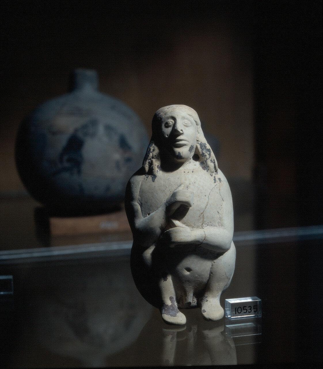 Родос, Археологический музей. Терракотовый бальзамарион, VI в. до н.э.