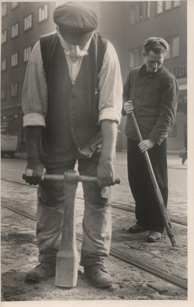 Гамбург. Дорожные рабочие
