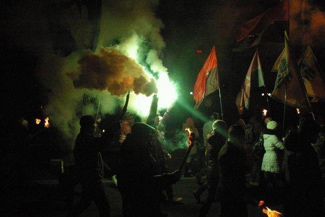 Факельное шествие в честь Степана Бандеры состоялось в Херсоне