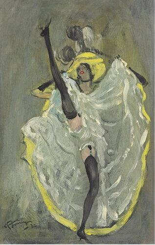Французский кан-кан. 1932. 45.8 x 29.2 см. масло, панель.Частная коллекция.jpg