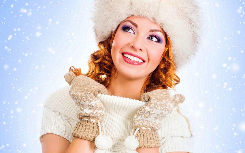 Новый год, праздник, снегурочка, девушка зима