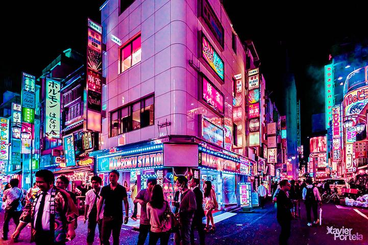 Энергетика ночного Токио в серии фотографий Хавьера Портелы