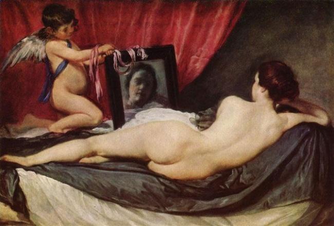 © wikipedia  Картина Диего Веласкеса « Венера сзеркалом » сама посебе представляет тайну: ис