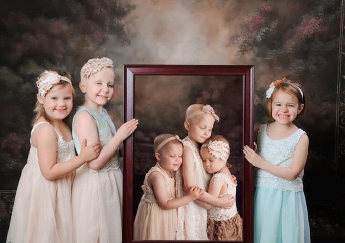 Победив рак, девочки повторили фотосессию, сделанную в начале пути (8 фото)