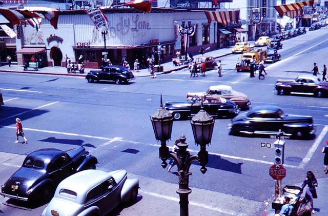 Улицы Лос-Анджелеса в 1944 году.