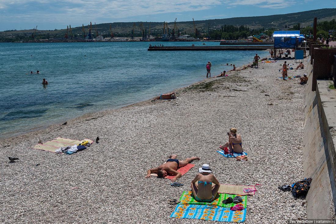 33. Люди зачем-то кормят голубей. Голуби раскидывают по пляжу мусор и гадят, люди потом на этом лежа