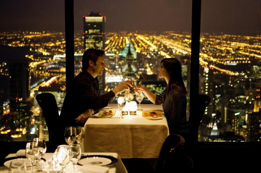 12. The Signature Room at the 95th, Чикаго, США Ресторан расположен на 95-м этаже башни John Hancock