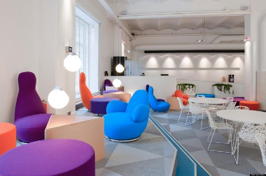 10. Офис Skype в Стокгольме Креативным дизайном офиса также отличается компания Skype в Стокгольме
