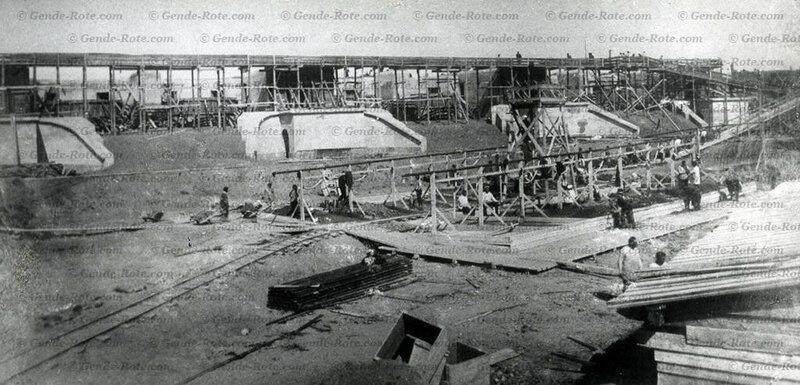 Строительство (или реконструкция) одного из фортов крепости (форт Александр Шанц в западной части острова Котлин по его южному берегу). Начало 1910-х.