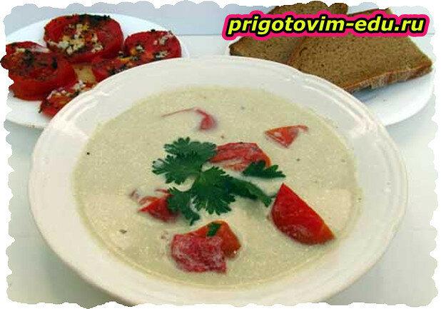 Крем-суп с запеченными помидорами