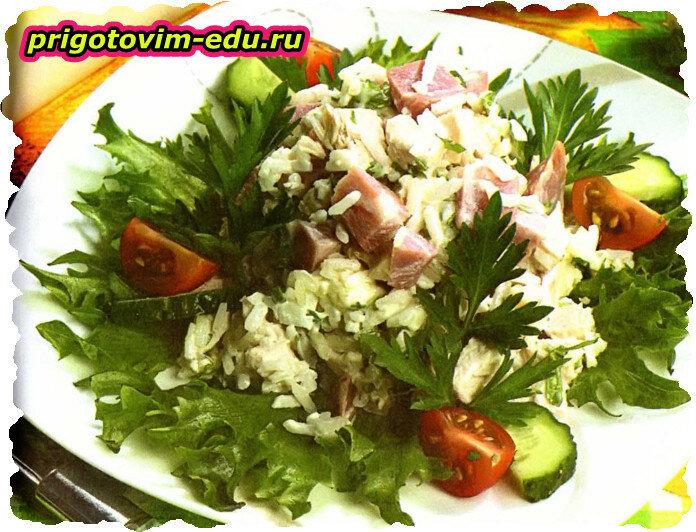 Салат с окороком по-индийски